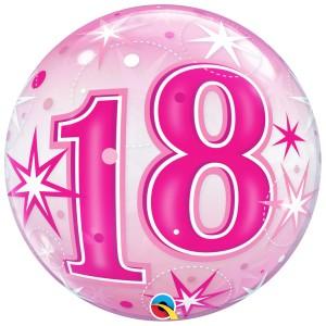 18 rosa con estrellas