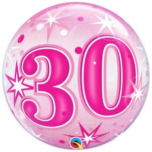 30 rosa con estrellas
