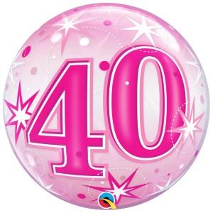 40 rosa con estrellas