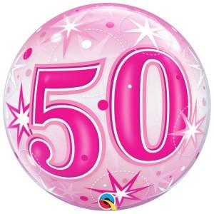 50 rosa con estrellas