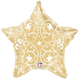 Estrella dorada hologŕafica